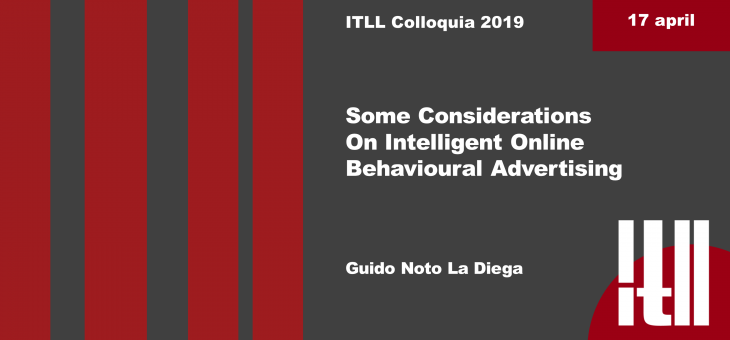 "17 APRIL 2019 – ""SOME CONSIDERATIONS ON INTELLIGENT ONLINE ADVERTISING"""