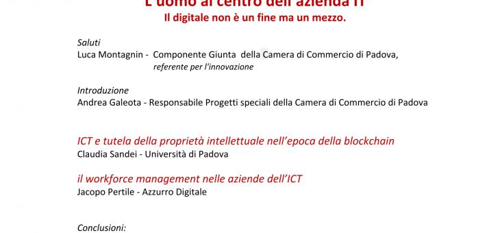 1 APRIL 2019 – L'UOMO AL CENTRO DELL'AZIENDA IT (Workshop per imprenditori)