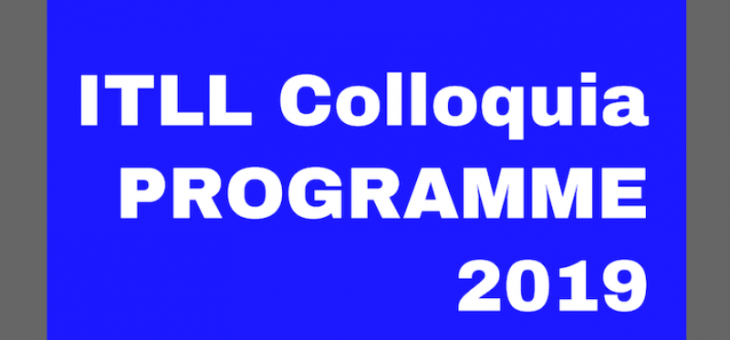 Spring 2019 – ITLL Colloquia (1st Edition)