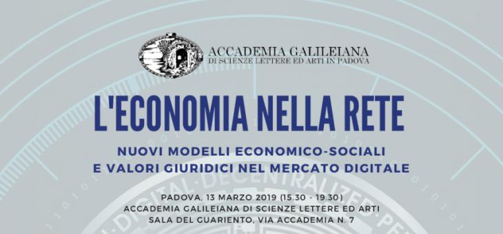 13 March 2019 – L'economia nella rete