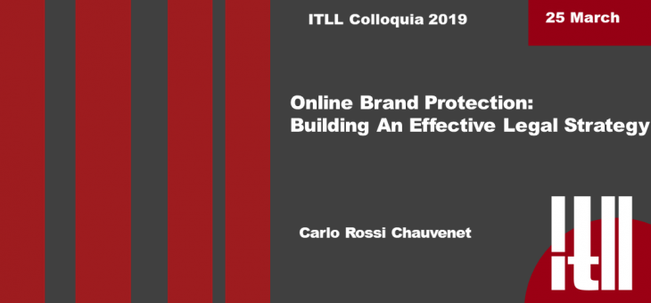 """25 March 2019 – """"Online brand protection: building an effective legal strategy"""""""