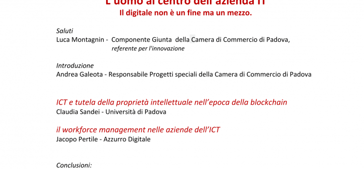 "1 April 2019 – L""uomo al centro dell'azienda IT (Workshop per imprenditori)"
